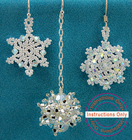 Snowflake Earrings 3 Designs- Instructions