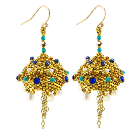 Persian Bells Earrings Bead Weaving Kit - Beads Gone Wild  - 1