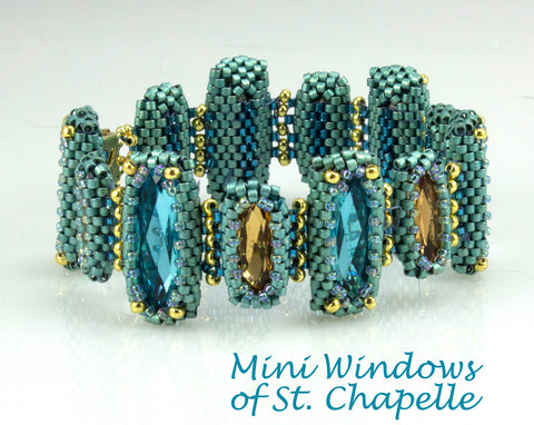 Mini Windows of Sainte Chapelle Bracelet Bead Weaving Kit