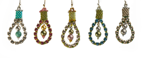 Urban Sheek Earrings Bead Weaving Kit - Beads Gone Wild  - 2