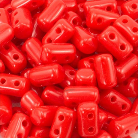 "Opaque Coral Red Rulla 3x5 3"" Tube - Beads Gone Wild"