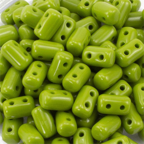 "Opaque Green Rulla 3x5 3"" Tube - Beads Gone Wild"