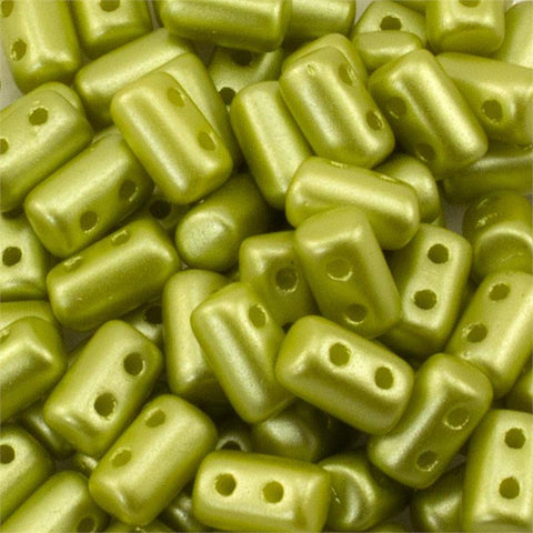 "Pastel Lime Rulla 3x5 3"" Tube - Beads Gone Wild"