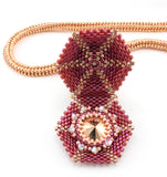 Jeweled Locket Bead Weaving Instructions Pattern