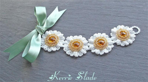 Rivoli Daisy Bracelet Instructions  by Kerrie Slade - Beads Gone Wild