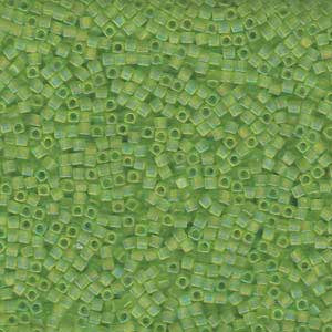 1.8mm Miyuki Cube Tr. Chartreuse SB18-143FR approx. 12grams - Beads Gone Wild