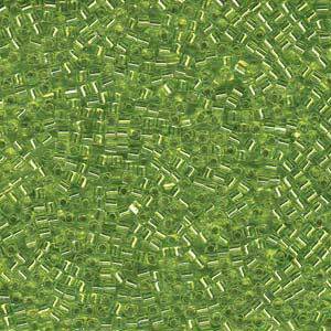 1.8mm Miyuki Cube S/L Chartreuse SB18-14 approx. 12grams - Beads Gone Wild