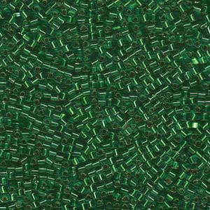 1.8mm Miyuki Cube S/L Green SB18-16 approx. 12grams - Beads Gone Wild