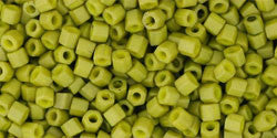 11/o Hex Seed Bead Frosted Pea Green - Beads Gone Wild