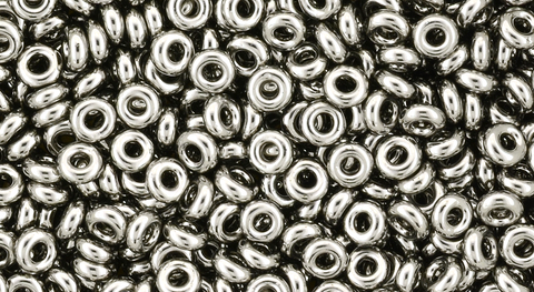 8/o Nickel Demi Round Bead - Beads Gone Wild