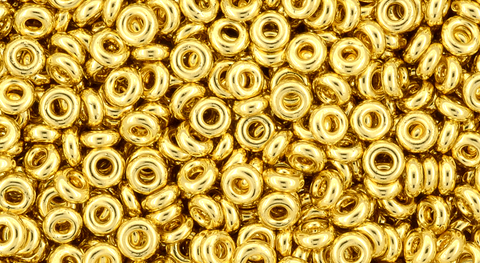 8/o Metallic Gold Demi Round Bead - Beads Gone Wild