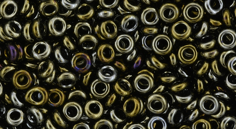 8/o Metallic Iris Brown Demi Round Bead - Beads Gone Wild