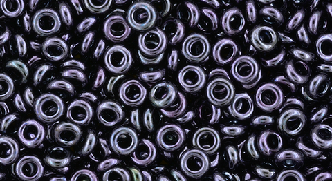 8/o Metallic Amethyst Gun Metal Demi Round Bead - Beads Gone Wild