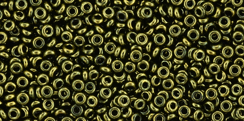 11/o Gold-Lustered Dark Ancient Toho Demi Round Bead - Beads Gone Wild