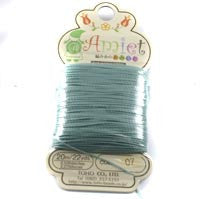 Amiet Polyester Aqua 22yards (20m) .5mm - Beads Gone Wild