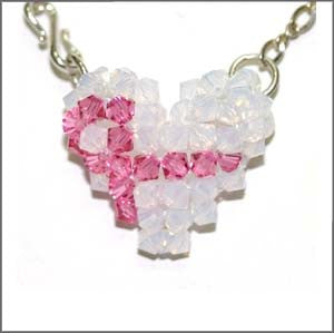 Awareness Ribbon Puffy Heart Instructions - Beads Gone Wild