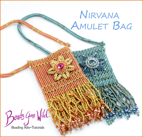Nirvana Amulet Bag bead weaving Instructions Pattern