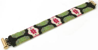 Odd Count Peyote Bracelet Instructions P904 by Eileen Spitz - Beads Gone Wild