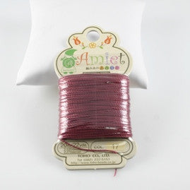 Amiet Polyester Burgundy 22yards (20m) .5mm - Beads Gone Wild