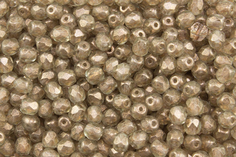 4mm Golden Touch Fire Polish Champagne Approx.80 beads - Beads Gone Wild