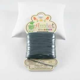 Amiet Polyester Charcoal 22yards (20m) .5mm - Beads Gone Wild