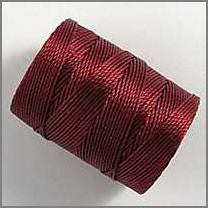 Red C-lon bead cord - Beads Gone Wild