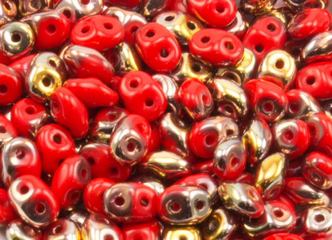 Super Duo Opaque - Red Apollo 2.5x5mm - Beads Gone Wild