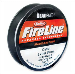 Crystal Fire Line Thread 4lb extra fine 50yds. - Beads Gone Wild