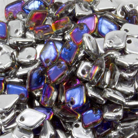 Dragon Scale Crystal Volcano 1.5 x 5mm 8 grams - Beads Gone Wild