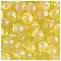 "dp-136fr Matte Transparent Yellow AB 3.4mm 3"" Tube Approx. 13 grams - Beads Gone Wild"