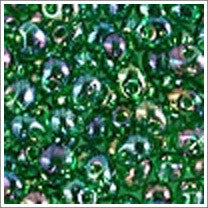 "dp-179 Transparent Green AB 3.4mm 3"" Tube Approx. 13 grams - Beads Gone Wild"