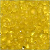 "dp-136f Matte Transparent Yellow 3.4mm 3"" Tube Approx. 13 grams - Beads Gone Wild"