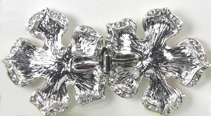 Rhodium Plated Flower Clasp - Beads Gone Wild