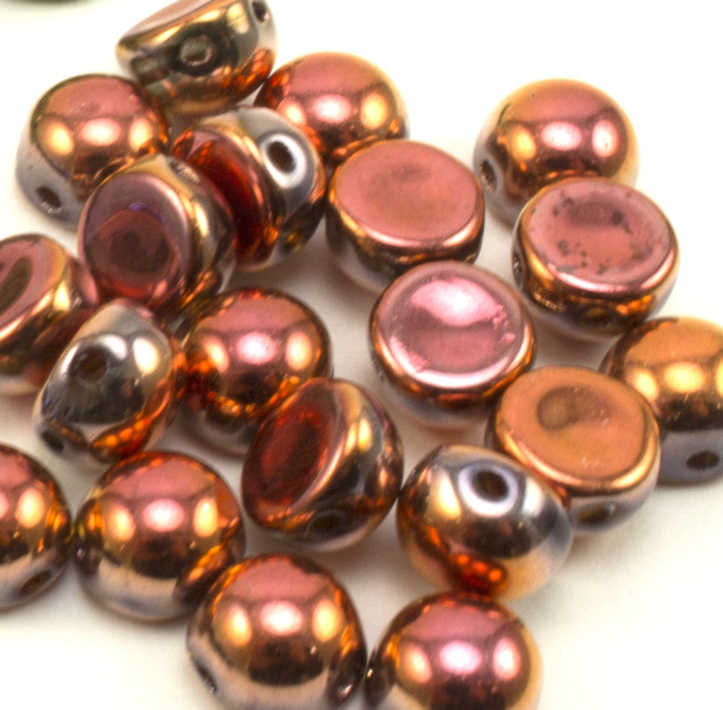 2 Hole 6mm Cabochon Crystal Full Sunset - Beads Gone Wild