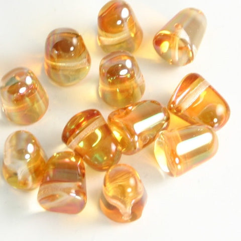 Gumdrops Apricot Medium 7x10mm 12/pkg - Beads Gone Wild