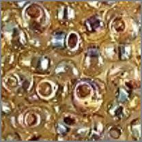 Garnet Lined Tr Light Topaz AB 4mmApprox 9 grams - Beads Gone Wild
