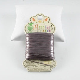 Amiet Polyester Mauve 22yards (20m) .5mm - Beads Gone Wild