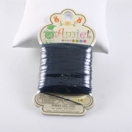 Amiet Polyester Navy Blue 22yards (20m) .5mm - Beads Gone Wild
