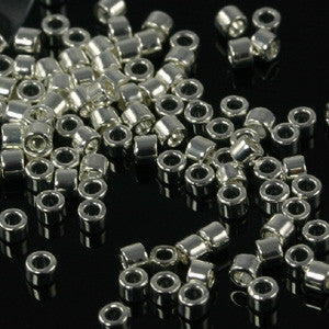 11/o Delica DB 0551 Silver Plated - Beads Gone Wild