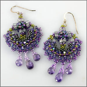 Peacock Earrings Instructions - Beads Gone Wild