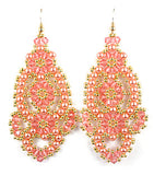 Flamenco Bead Weaving Earrings Instructions Pattern