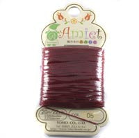 Amiet Polyester Red 22yards (20m) .5mm - Beads Gone Wild