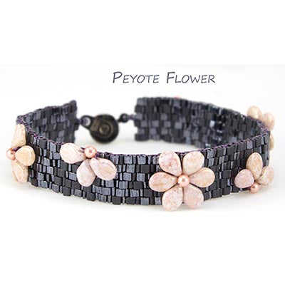 Peyote Flower Bracelet Bead Weaving Kit