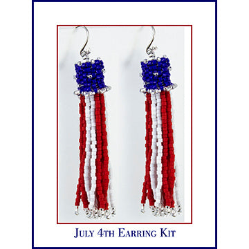 4th of July Beaded Earring Kit