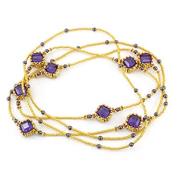 Crystal Station Break Necklace Bead Weaving Kit