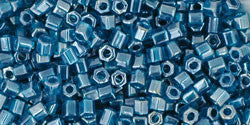 11/o Hex Seed Bead Transparent Luster Teal - Beads Gone Wild