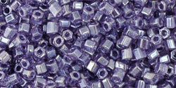 11/o Hex Seed Bead Transparent Luster Sugar Plum - Beads Gone Wild