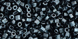 11/o Hex Seed Bead Metallic Hematite - Beads Gone Wild