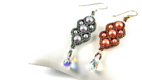 Timeless Treasure Earrings Bead Weaving Kit - Beads Gone Wild  - 1