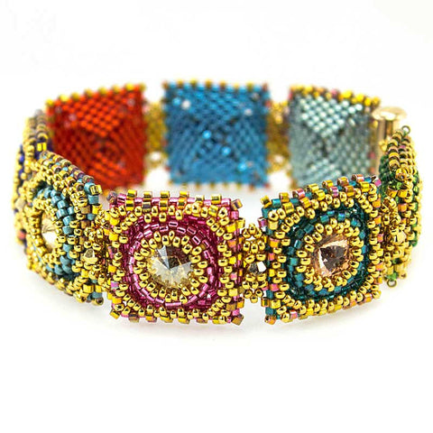 Flaming Jewels Bracelet Bead Weaving Kit - Beads Gone Wild  - 1